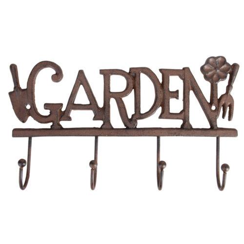 Landhaus Garten Hakenleiste Garderobenleiste Nostalgie Gusseisen Geräteleiste