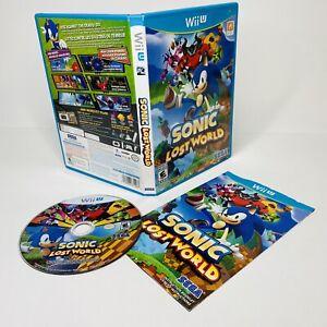 Sonic Lost World Nintendo Wii U 2012 Complete CIB Sega TESTED WORKS