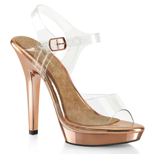 "FABULICIOUS Lip-108 5/"" Heel Ankle-Strap Sandal"