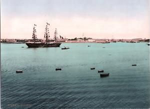 France-Lorient-Vue-generale-prise-de-la-pointe-de-Pen-Mane-vintage-print-p