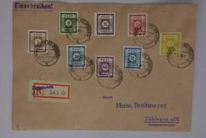 ML All. Bes., SBZ, Ost-Sachsen 42-50 außer 44 Sammlerbrief, Einschr. inkl. 43 AI