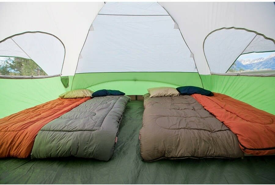 Coleman Evanston 8-Person Screened Dome  Tent Outdoor Camping Easy Setup Green  exciting promotions