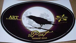 Papieren reclame NEW HOLLAND BREWING THE POET Oval Logo STICKER craft beer brewery dragons milk Reclamevoorwerpen