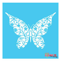 Butterfly Ornate Stencil Template |