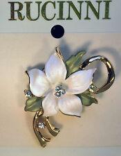 Rucinni  Swarovski Crystal Lotus Flower Brooch/brosch/pin mother's day present