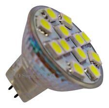 MR11 12 SMD LED 12V (10-30V DC) 200LM 2.4W White Bulb (~25W)