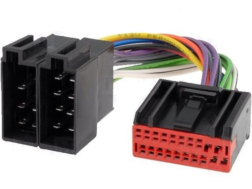 Jaguar S Type X headunit Mazo de cables ISO Telar Convertidor Adaptador Conector