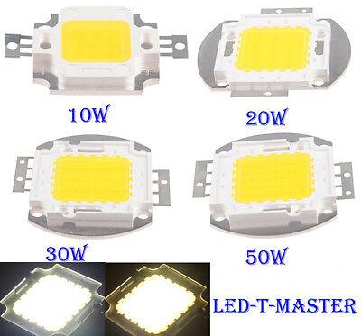 1/5/10pcs 10W 20W 30W 50W High Power White LED Lamp Light COB SMD Bulb Chips DIY