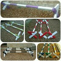 3 X Equestrian Cavaletti Horse Jumps,pony Jumps,show Jumps. Natural Or Coloured