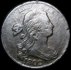 1802 Draped Bust Large Cent Penny Type Coin ----  Stunning Rare  ---- #L466