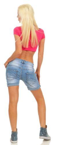 11521 Voluptueuse Jeans Femmes Bermuda Pantalon Boyfriend Denim Shorts déterioré