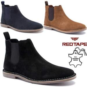 Mens-Leather-Chelsea-Boots-New-Ankle-Biker-Smart-Formal-Desert-Boots-Shoes-Size