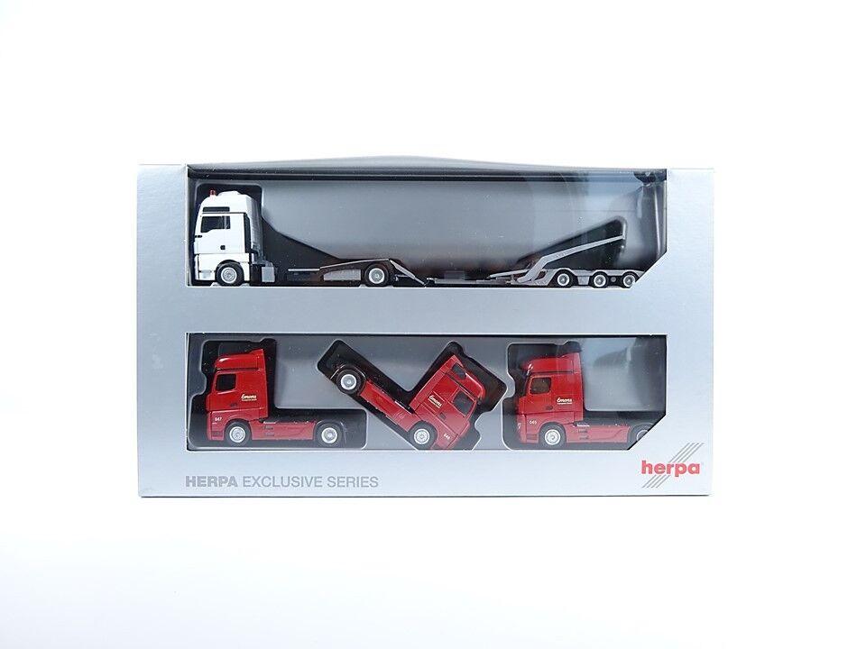 Herpa h0 934800, si TGX XXL Camion-Transporter-hängerzug, Nuovo, Confezione Originale