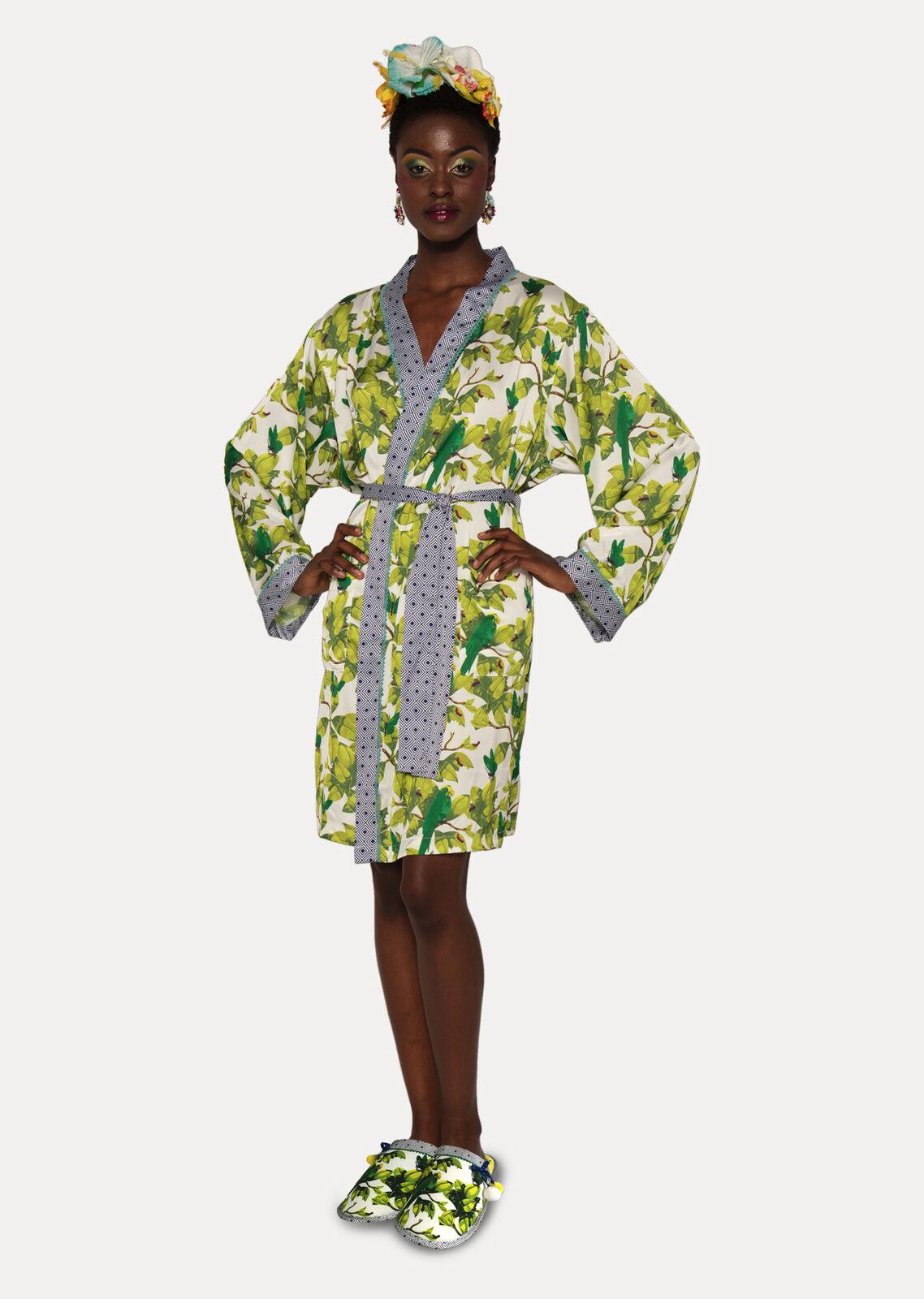 Frida Kahlo Bonito Satin Women's Dressing Gown Robe