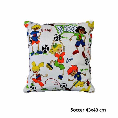 Kids Children Girls Boys Cartoon Skull Fairies Square Filled Cushion