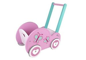 Details About Toysters Wooden Push Walker Wagon For Toddlers Adorable Baby Doll Carrier Bugg
