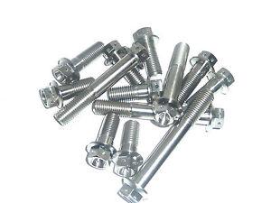 Zinc Plated Hex Screws #9B1 50 x M4 x 10mm Flanged Hexagon Bolts
