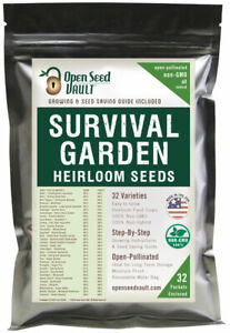 EMERGENCY-SURVIVAL-GARDEN-VEGETABLE-SEED-NON-GMO-HEIRLOOM-SEED-BANK-PACK-SET-MRE