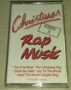 Christmas-Rap-Music-Crew-X-Cassette-Tape-Rare-1990