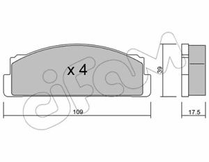 Bremsbelagsatz Scheibenbremse Cifam 822-001-0