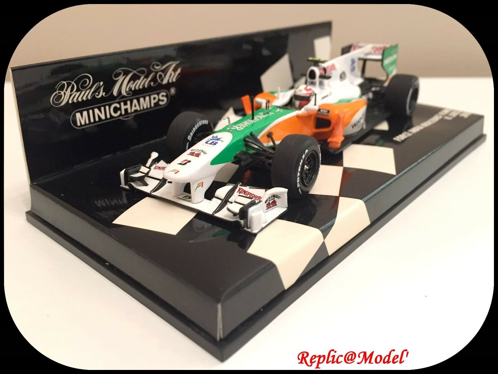█  1 43 FORCE INDIA MERCEDES VJM03 V. LIUZZI  15 MINICHAMPS 410100015 NEUF  █