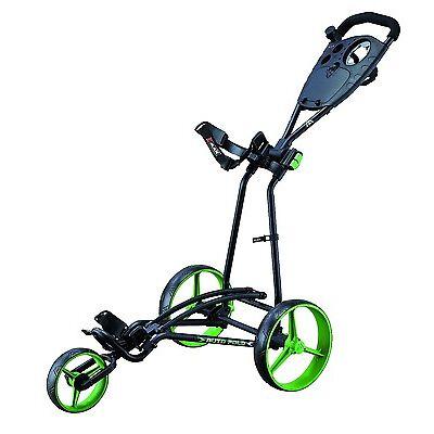 Big Max Autofold Plus  - 3-Rad-Golftrolley Farbe Black-Lime, Neu!