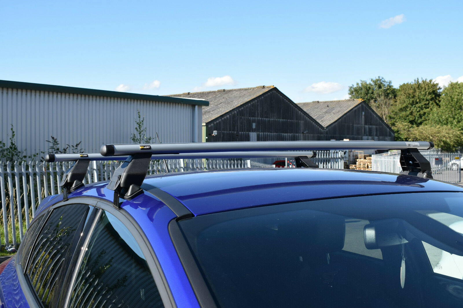 M-WAY Aero Fit Roof Rack Space Bars for MITSUBISHI L 200 K60T 4 Door 96/>05