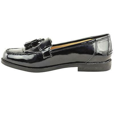 Damen Flache Slipper Freizeit Büro Arbeit Schule Fransen Quasten Pumps Schuhe