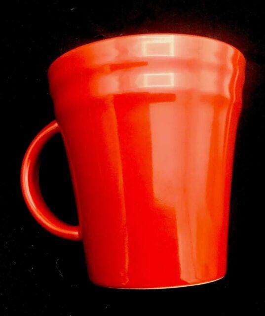 Rachael Ray Red Double Ridge 14 Oz Coffee Cup Mug New W Sticker