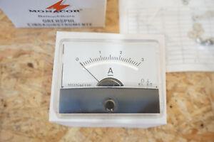 Monacor-PM-2-Drehspulinstrument-Einbau-Klasse-2-NEU-0-3A
