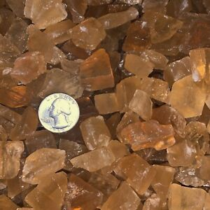 3000-Carat-Lots-of-SMALL-Citrine-Calcite-Rough-A-FREE-Faceted-Gemstone