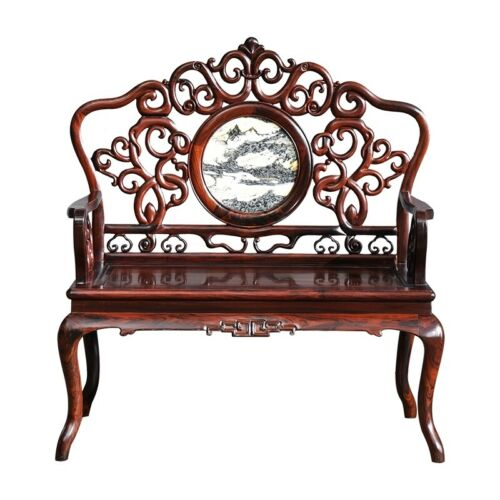 MingDy STL Solid wood Palace Chair Old-fashioned Wooden Armchair Tea table #1102