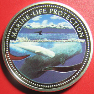 2002-PALAU-5-SILVER-PROOF-COLORED-WHALES-NEPTUNE-SEA-HORSES-CHARIOT-MARINE-LIFE