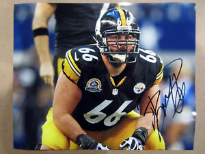 1f98e6ee05e Image is loading DAVID-DECASTRO-Pittsburgh-Steelers-Autographed-SIGNED -8x10-photo-
