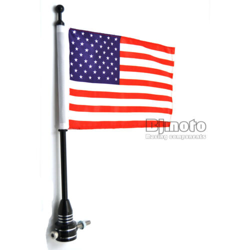 Motorcycle Luggage Rack USA Flag Pole For Harley Touring Street Road Glide