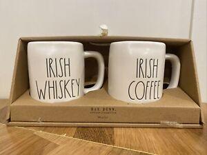 Rae Dunn Irish Coffee & Whiskey Mug Set St Patrick's Day New LL Magenta Artisan
