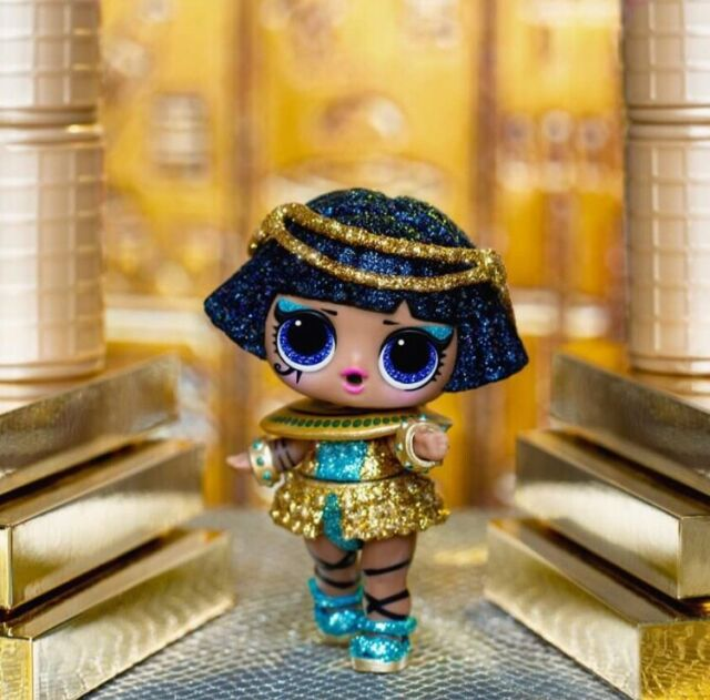 Original Sparkle Pharaoh Baby Egyptian Gold Doll Confetti Pop Glitter Toys