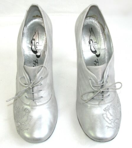 Leather condizioni 5 10 All Derbies Lance Ottime Free 37 Cm Grey Heeled Silver I70aFqtwB