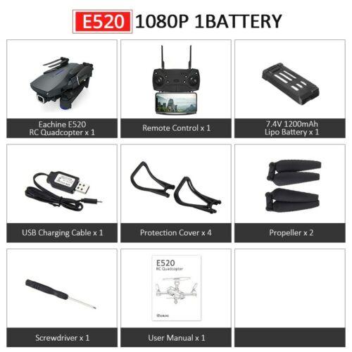 Eachine E520//E520S WIFI FPV With 4K//1080P HD Wide Angle Camera High Hold Mode