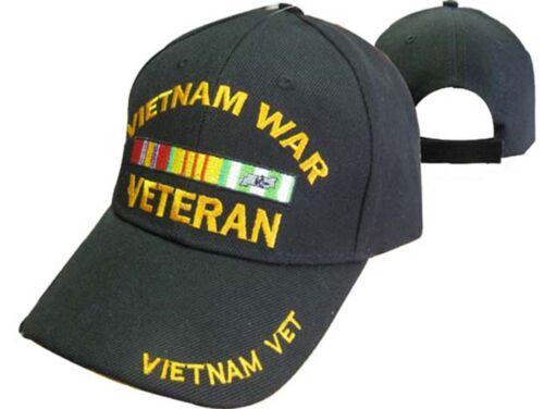 TOPW Vietnam War Veteran Vet Black Embroidered Cap Hat CAP780A