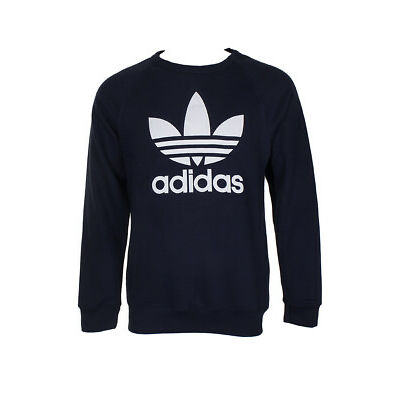 Adidas Men's Trefoil Logo Graphic Raglan Sleeve Sweatshirt