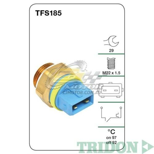TRIDON FAN SWITCH FOR Peugeot 406 08990804 2.0LXU10J4RPetrol TFS185