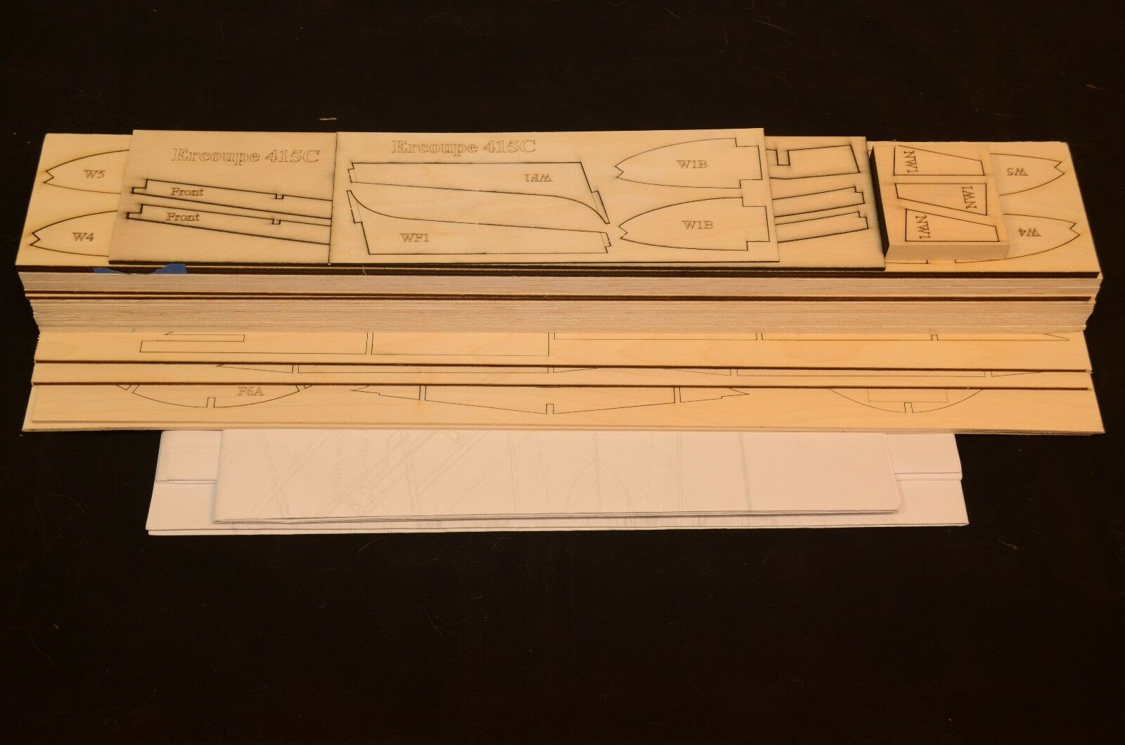 Giant 1 4.5 Scale ERCOUPE 415C Laser Cut Short Kit & Plans 80 in. wing span