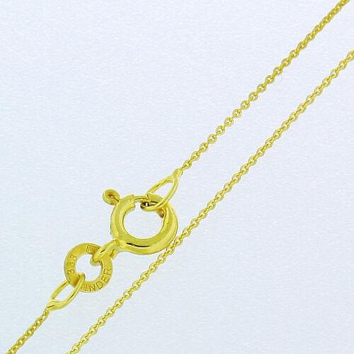 Cadena de nuevo collar cadena de oro cadena de anclaje de 333er dorado