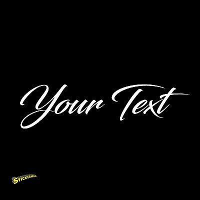 YOUR TEXT Vinyl Decal Sticker Car Window Bumper CUSTOM Personalized Lettering