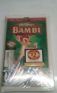 Disney-Bambi-55th-Anniversary-Limited-Edition-VHS-1997-New-in-unopened-package