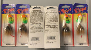 LOT OF 6 MEPPS AGLIA SPINNERS SIZE 3 1//4 oz BR B3ST HFT