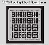 Eduard Landing Lights 1//72 1//48 1.5 mm /& 2 mm # 00020