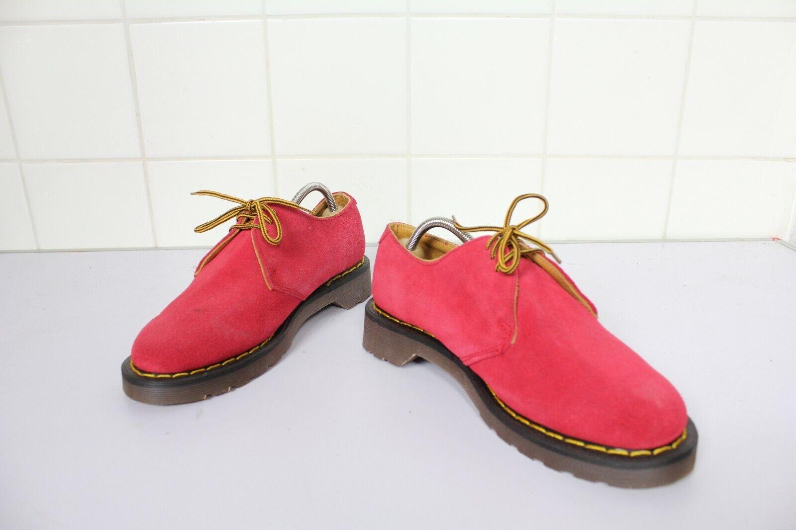 Vintage Dr. Martens Rare 90s Schuhe Wildleder Rottöne Eu 39-Uk 6 made in England