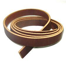 "9/11oz Latigo Leather Strip 72"" Strap Belt - 3/4"" Brown"